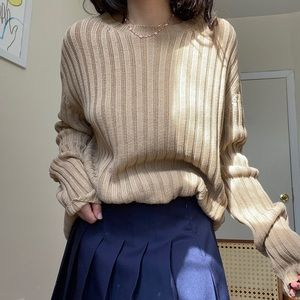Chunky banana republic tan sweater